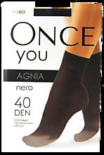 Носочки женские «Once You» Agnia, из микрофибры 40 ден, nero