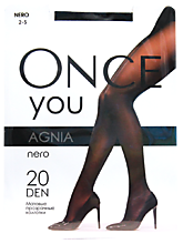 Колготки женские «Once You» Agnia 20 den, nero, размер 2