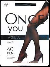 Колготки женские «Once You» Agnia 40 den, nero, размер 3