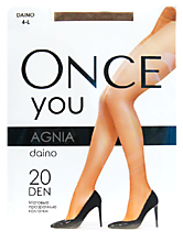 Колготки женские «Once You» Agnia 20 den, daino, размер 4