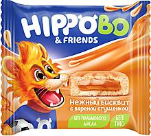 Бисквитное пирожное HIPPO BO & friends с вареной сгущенкой, 32г
