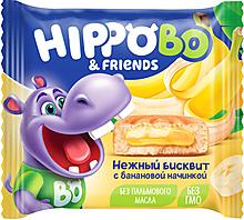 Бисквитное пирожное HIPPO BO & friends с банановой начинкой, 32г
