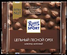 Шоколад молочный «Ritter Sport» с лесным орехом, 100г