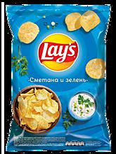 Чипсы «Lay's» Сметана и зелень, 90г