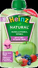 Пюре фруктовое «Heinz» Яблоко, клубника, черника, 90г