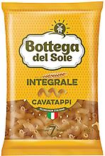 «Bottega del Sole», макаронные изделия Bogetta del Sole Integrale Cavatappi, 400г