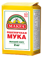 Мука пшеничная «Макфа» высший сорт, 2кг