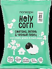 Попкорн «Holy Corn» Сметана, зелень и черный перец, 20г