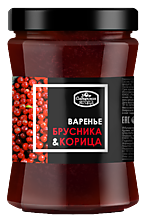 Варенье «Сибирская Ягода» брусничное с корицей, 300г