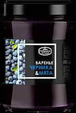 Варенье «Сибирская Ягода» черничное с мятой, 300г