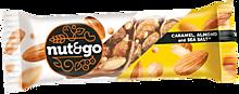 Миндальный батончик «Nut N Go» с карамелью, нугой и орехами, 34г
