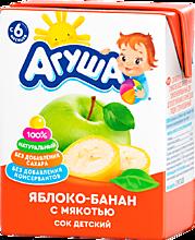 Сок «Агуша» Яблоко-банан, 200мл