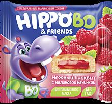 Бисквитное пирожное «HIPPOBO» с малиновой начинкой, 32г