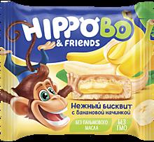 Бисквитное пирожное «HIPPOBO» с банановой начинкой, 32г