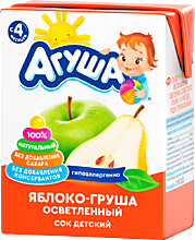 Сок «Агуша» Яблоко-Груша, 200мл