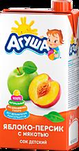 Сок «Агуша» яблоко-персик, 500мл
