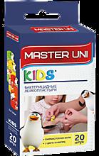 Пластырь бактерицидный «MASTER UNI» KIDS на полимерной основе с рисунками, 20 шт