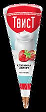 Мороженое «Твист» Клубника и йогурт, 73г