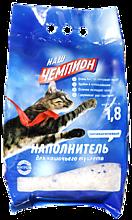 Наполнитель для туалета «Наш Чемпион» Силикагелевый, 1,8кг