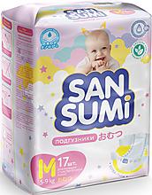 Подгузники, размер M (5-9 kg) «Sansumi», 520г