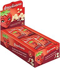 «Фруктовичи», драже «Клубника Николаевна» в белой шоколадной глазури, 50г