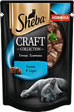 Влажный корм для кошек «Sheba» Craft collection, лосось в соусе, 75г