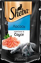 Влажный корм для кошек «Sheba» ломтики из лосося в соусе, 85г