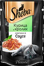 Влажный корм для кошек «Sheba» ломтики из курицы и кролика в соусе, 85г