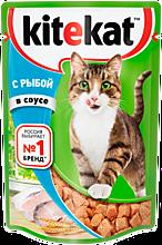 Влажный корм для кошек «Kitekat» с сочными кусочками рыбы в соусе, 85г