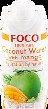 Кокосовая вода «FOCO» с манго, 330мл