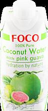 Кокосовая вода «FOCO» с розовой гуавой, 330мл