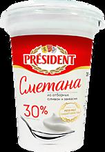 Сметана 30% «PRESIDENT», 350г