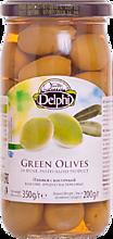 Оливки «Delphi» в рассоле, с косточками, 350г
