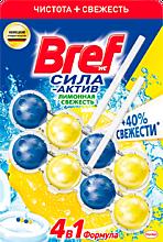 Блок для унитаза «Bref» Сила актив, Лимонная свежесть, 100г