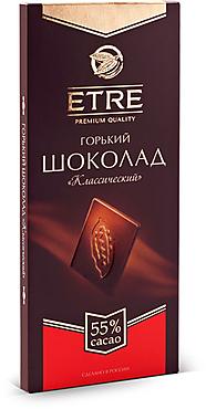 «ETRE», шоколад горький классический, содержание какао 55%, 90г