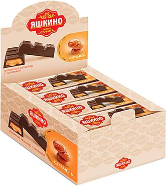 «Яшкино», шоколадный батончик с карамельной начинкой, 47г