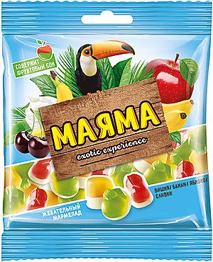 «Маяма», мармелад жевательный со вкусами банана, яблока, вишни со сливками, 70г