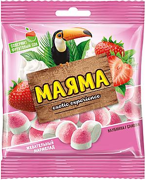 «Маяма», мармелад жевательный со вкусом клубника со сливками, 70г