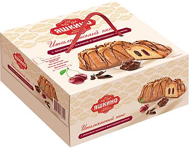 «Яшкино», кекс с вишнёвым джемом и шоколадным кремом, 500г