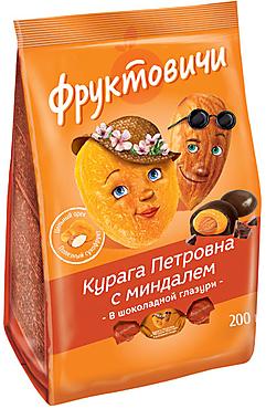 «Фруктовичи», конфета «Курага Петровна» с миндалём в шоколадной глазури, 200г