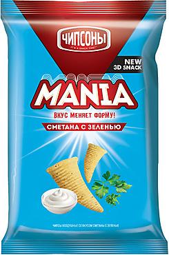 «Чипсоны», чипсы со вкусом сметаны с зеленью, 100г