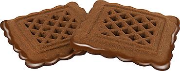 Печенье «С какао», сахарное с глазированным дном (коробка 3кг)