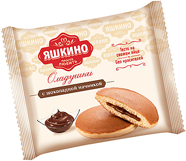 «Яшкино», оладушки с шоколадной начинкой, 36г