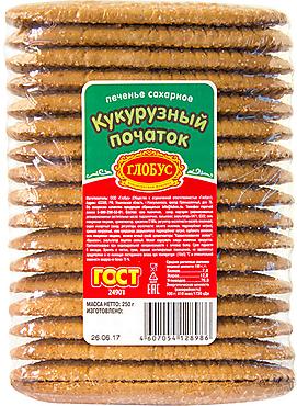 Печенье «Кукурузный початок», сахарное, 250г