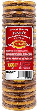 Печенье «Вихарёк» со вкусом апельсина, сахарное с глазированным дном, 250г