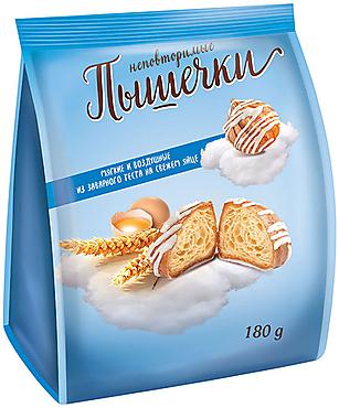 «Заварики», печенье «Заварные пышечки» в белой глазури, заварное, 180г