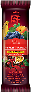 «Smart Formula», батончик фруктовый «Фрукты и орехи», 40г