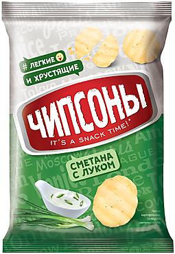 «Чипсоны», чипсы со вкусом сметаны и лука, 40г