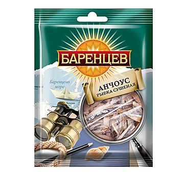 «Баренцев», анчоус сушёно-вяленый, 20г