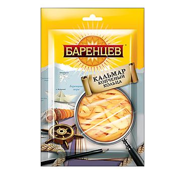 «Баренцев», кальмар, подкопчённые кольца, 35г